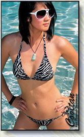 Black & White Zebra 2pc swimsuits