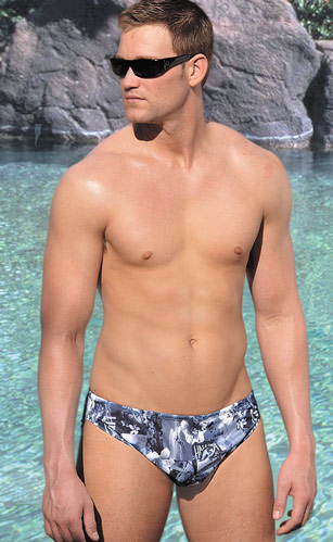 ca0f04f451b Cooltan Tan Through Men's Racer style swimsuits.